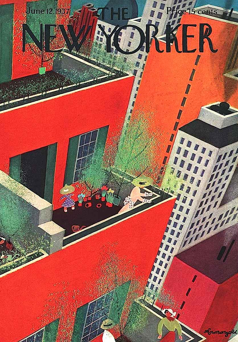 Adolph K. Kronengold 1937, the New Yorker june 1937, rooftop gardening