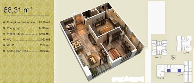 Căn 68,31 m2