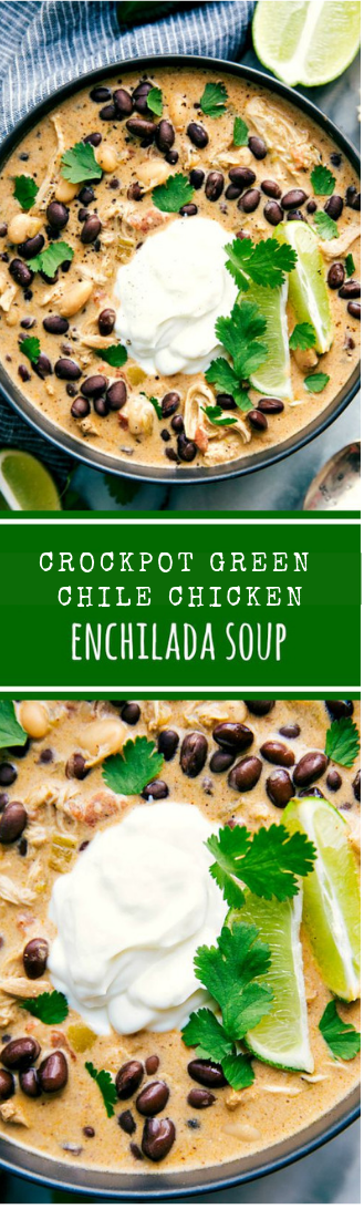Simmering pot GREEN CHILE CHICKEN ENCHILADA SOUP #soup #chicken