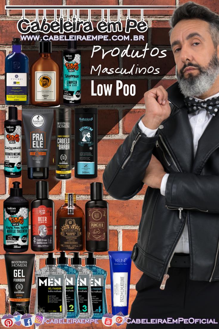 Shampoo, Condicionador, Creme para Pentear e Gel Masculino (Vyvedas, Skala, Salon Line, QOD Barber Shop, Haskell, Bio Extratus, Bothânico Hair, Griffus e Keune)