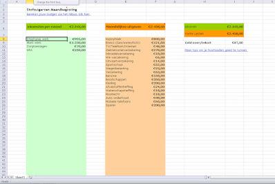 De simpele boekhouding sheet
