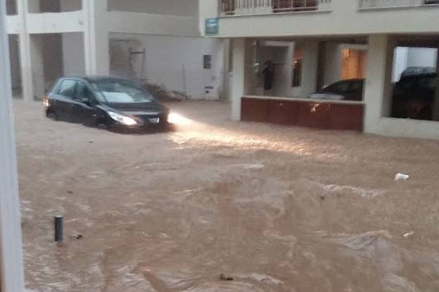 Πανικός στο Άργος - Αποκλεισμένο όλο το κέντρο από την μεγάλη νεροποντη