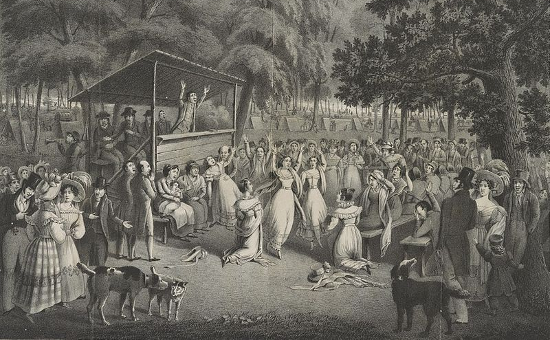 """Camp-meeting"" by H. Bridport. (ca. 1829)"