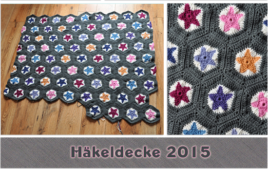 Häkeldecke Tutorial Halbes Hexagon Nordschatz