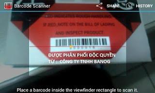 Barcode riêng cho từng nhãn phát hiện va đập