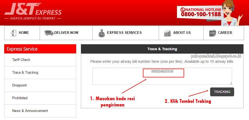 Cara Cek Resi J T Express Blog Pak Pandani