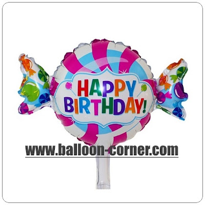 Balon Foil Happy Birthday Permen Mini