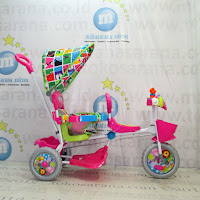 Sepeda Roda Tiga Royal RY1098 Classic Baby Tiger 2 Kursi Kanopi