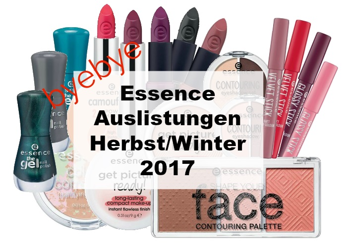 essence Auslistungen Herbst Winter 2017