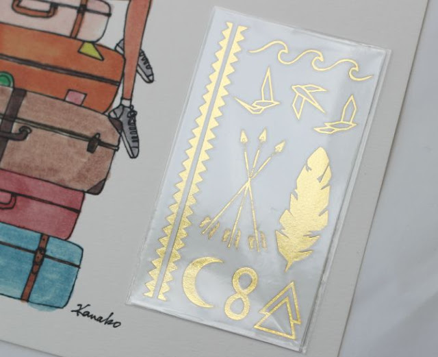 Gold transfer tattoos in the July My Little Box
