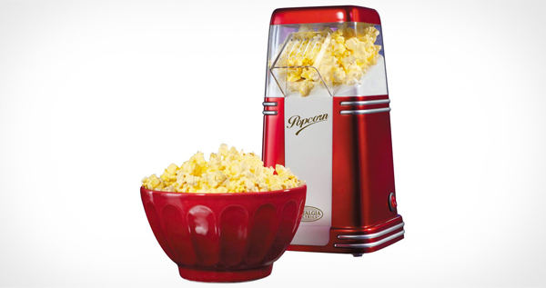 Retro Series Mini Hot Air Popcorn Maker