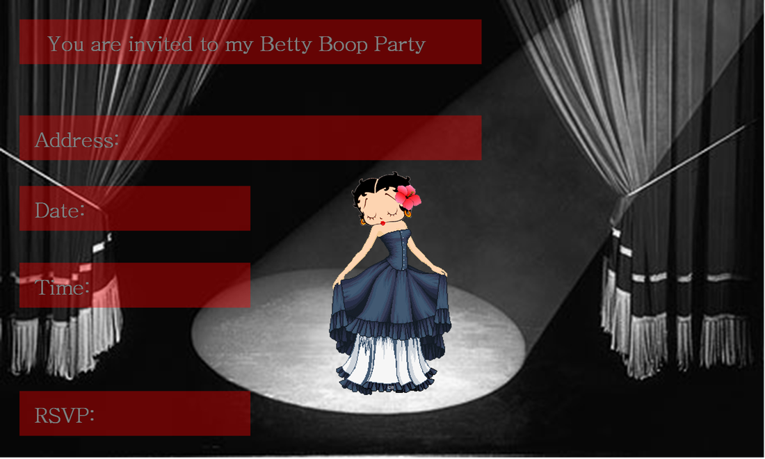 Mini Kit De Betty Boop Con Corazones Para Imprimir Gratis