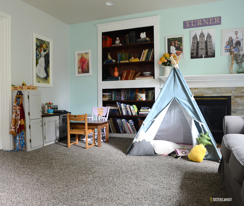 kids play area and reading nook