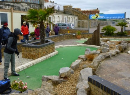 Minigolf at Strokes Adventure Golf in Margate, Kent