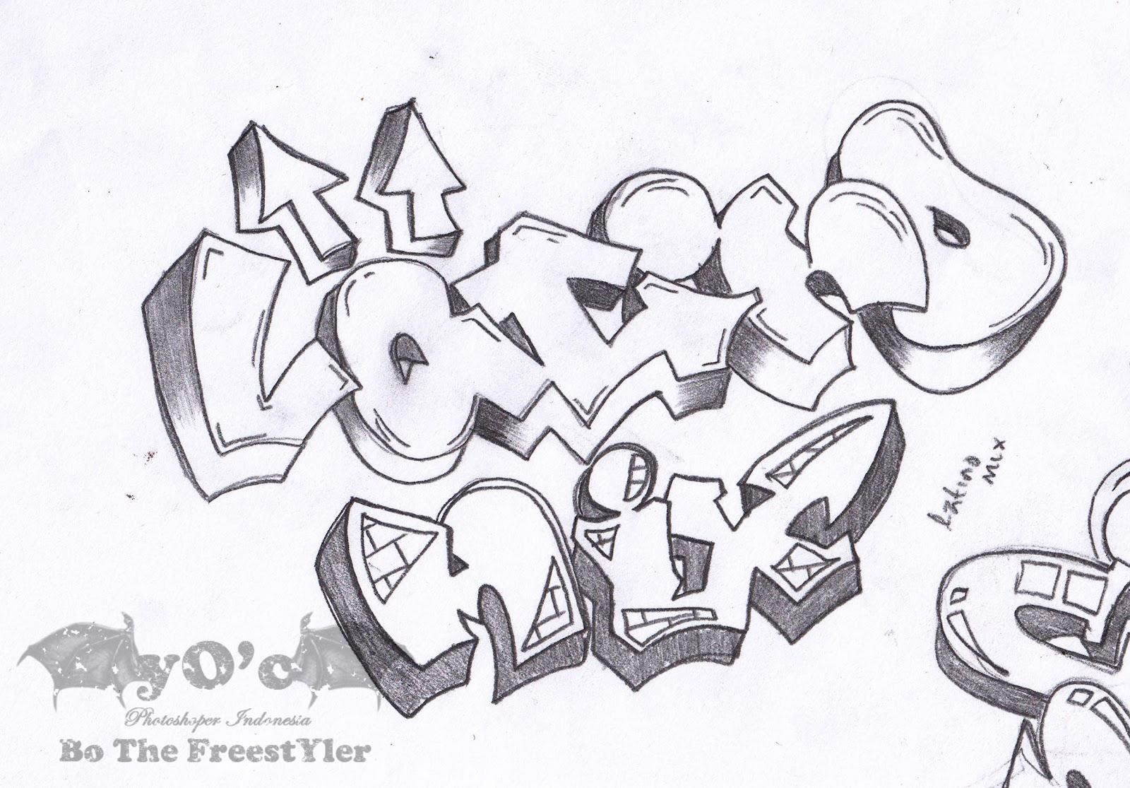 78 Gambar Sketsa Graffiti Alphabet Terbaru Duniasket