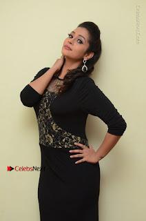 Telugu Actress Manasa Manohar Stills in Black Long Dress at Naku Nene Thopu Turumu Trailer Launch  0051.JPG