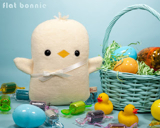 Flat-Bonnie-Easter-Bunny-Adopt-A-Plush-Baby-Chick-Chicken