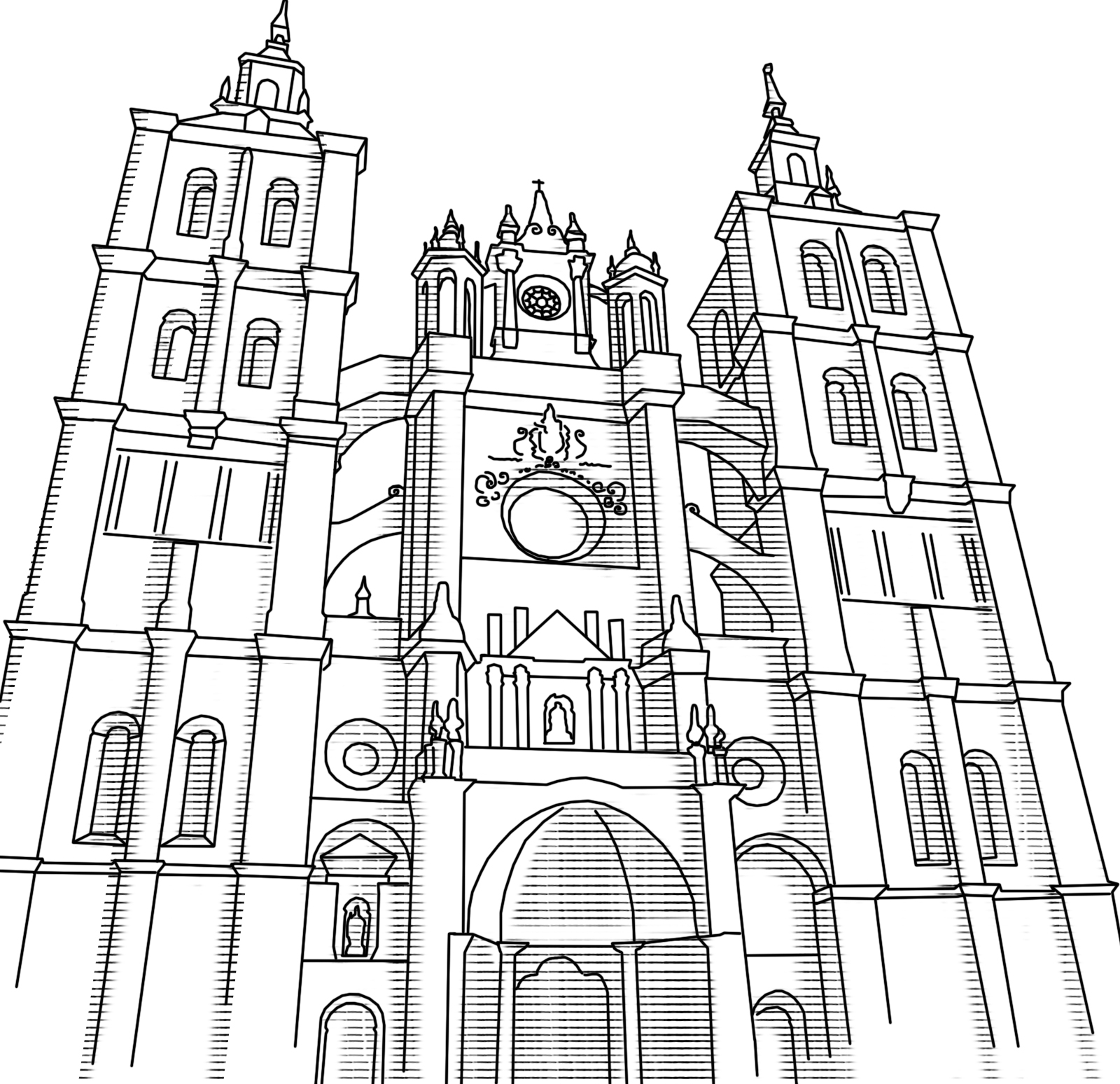 Ilustraciones Para Mapping Catedral De Santiago