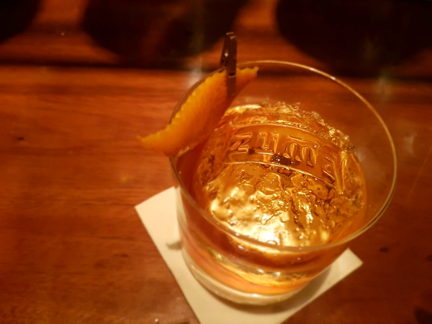 Image of a whisky-based cocktail at Zuma in Dubai