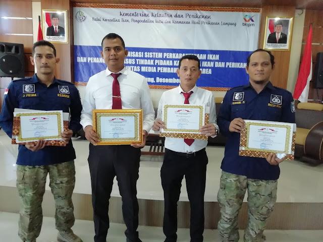 Kementrian Kelautan dan Perikanan Beri Penghargaan Kepada Empat Anggota Polres Lamsel