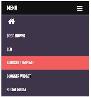 Navigasi Menu Responsive + Dropdown Terbaik untuk Blogger