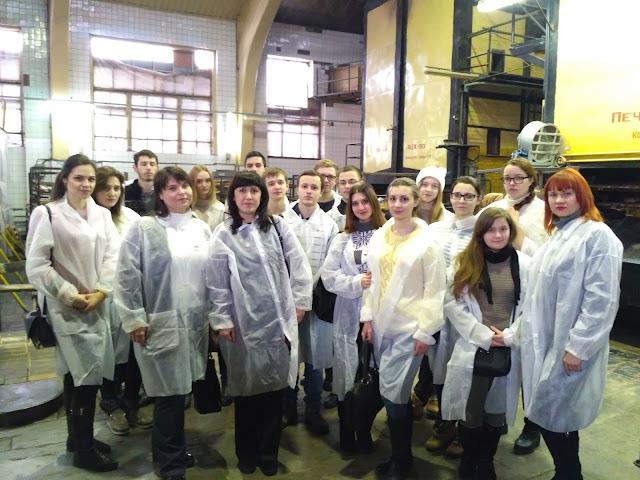 """Студенти факультету економічної інформатики відвідали з екскурсією """"Хлібзавод """"Салтівський"""""""