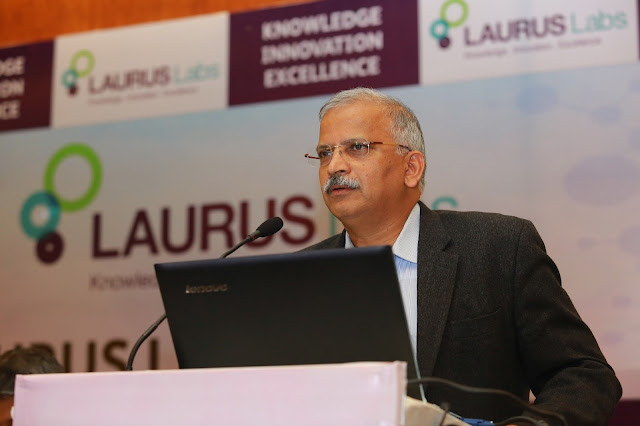Dr.Satyanaraya Chava, the CEO of Laurus Labs at the IPO Press Conference -2