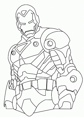 Iron Man Para Colorear Y Pintar Dibujo Views