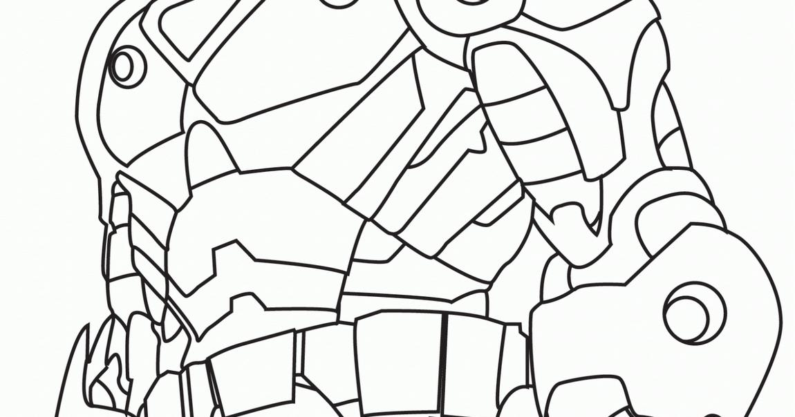 Dibujos De Iron Man Para Colorear E Imprimir: Iron Man Para Colorear Y Pintar