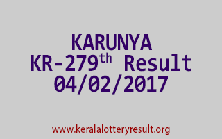 KARUNYA KR 279 Lottery Results 04-02-2017