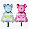 Balon Foil Bear It's A Boy Mini & Foil Bear It's A Girl Mini