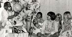 Mahesh Yogi (left) with the Beatles in 1967.Mahesh Yogi (left) with the Beatles in 1967.