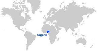 Gambar Peta letak Nigeria