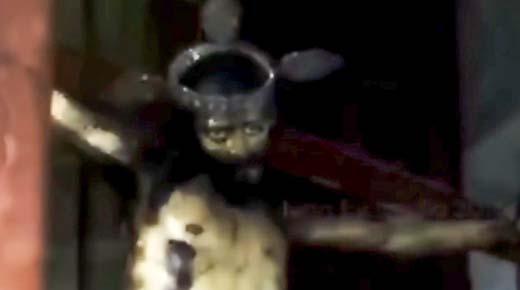 Estatua de Jesús abre los ojos en una iglesia de Mexico