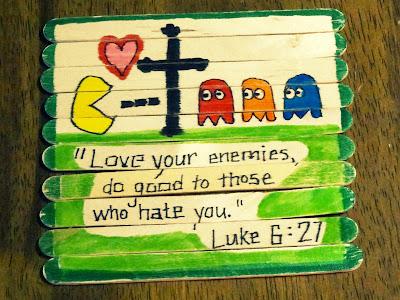 love your enemies pac-man puzzle Luke 6:27