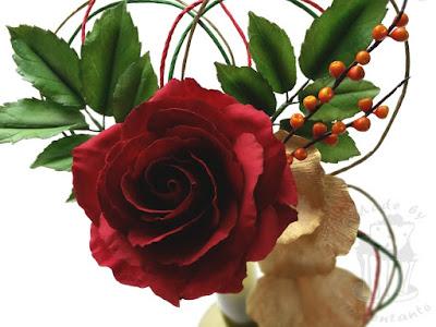 Baccararose aus Zucker - sugar rose