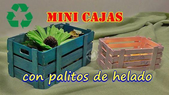 Mini cajas con palitos de helado