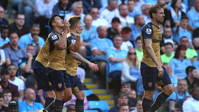[Video] Cuplikan Gol Manchester City 2-2 Arsenal (Liga Inggris)