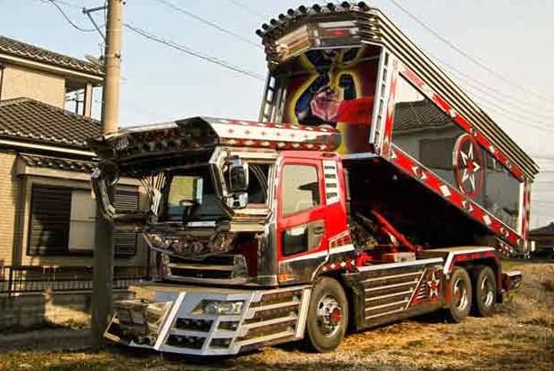 modifikasi truk dam canter