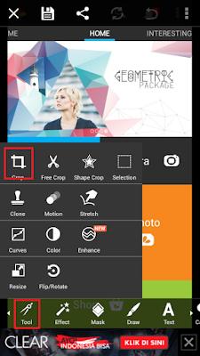 Cara Memotong Bagian Gambar Tertentu di Android Menggunakan PicsArt