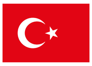 Turkish flag Logo Vector