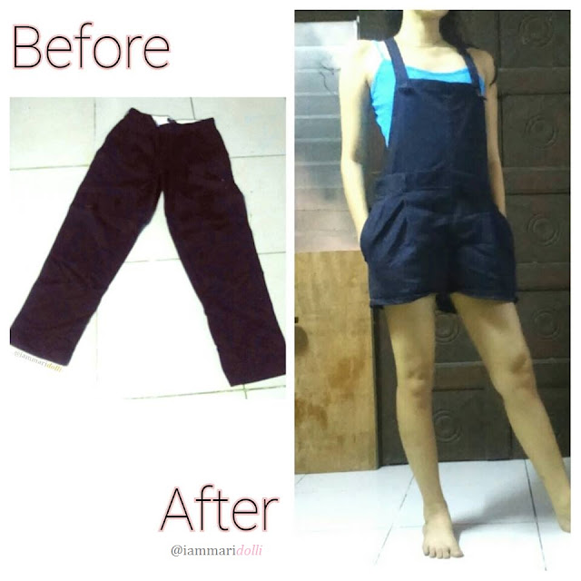 DIY Pants to Overalls Refashion