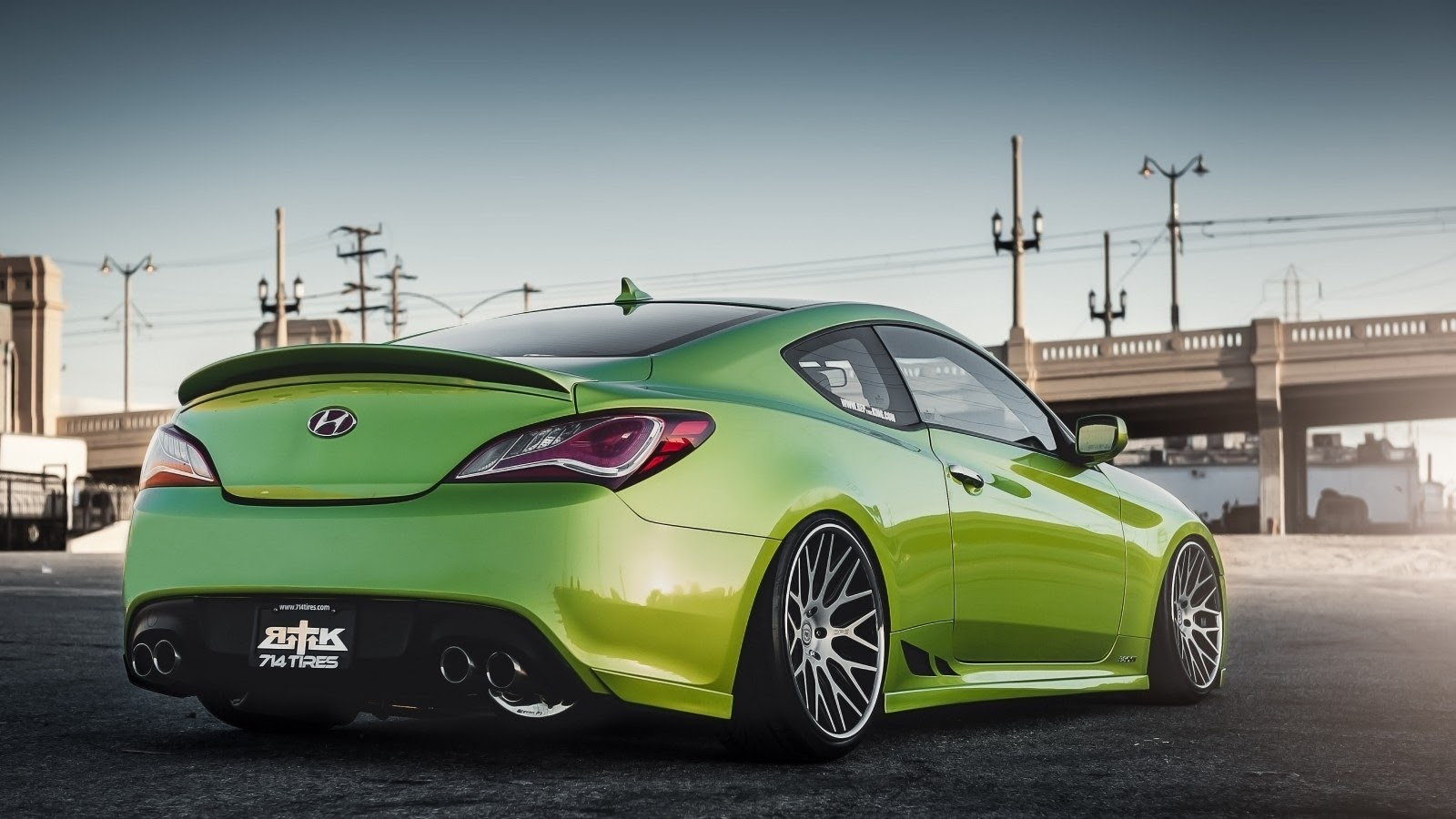 cars tuning music hyundai genesis coupe stance tuning green. Black Bedroom Furniture Sets. Home Design Ideas