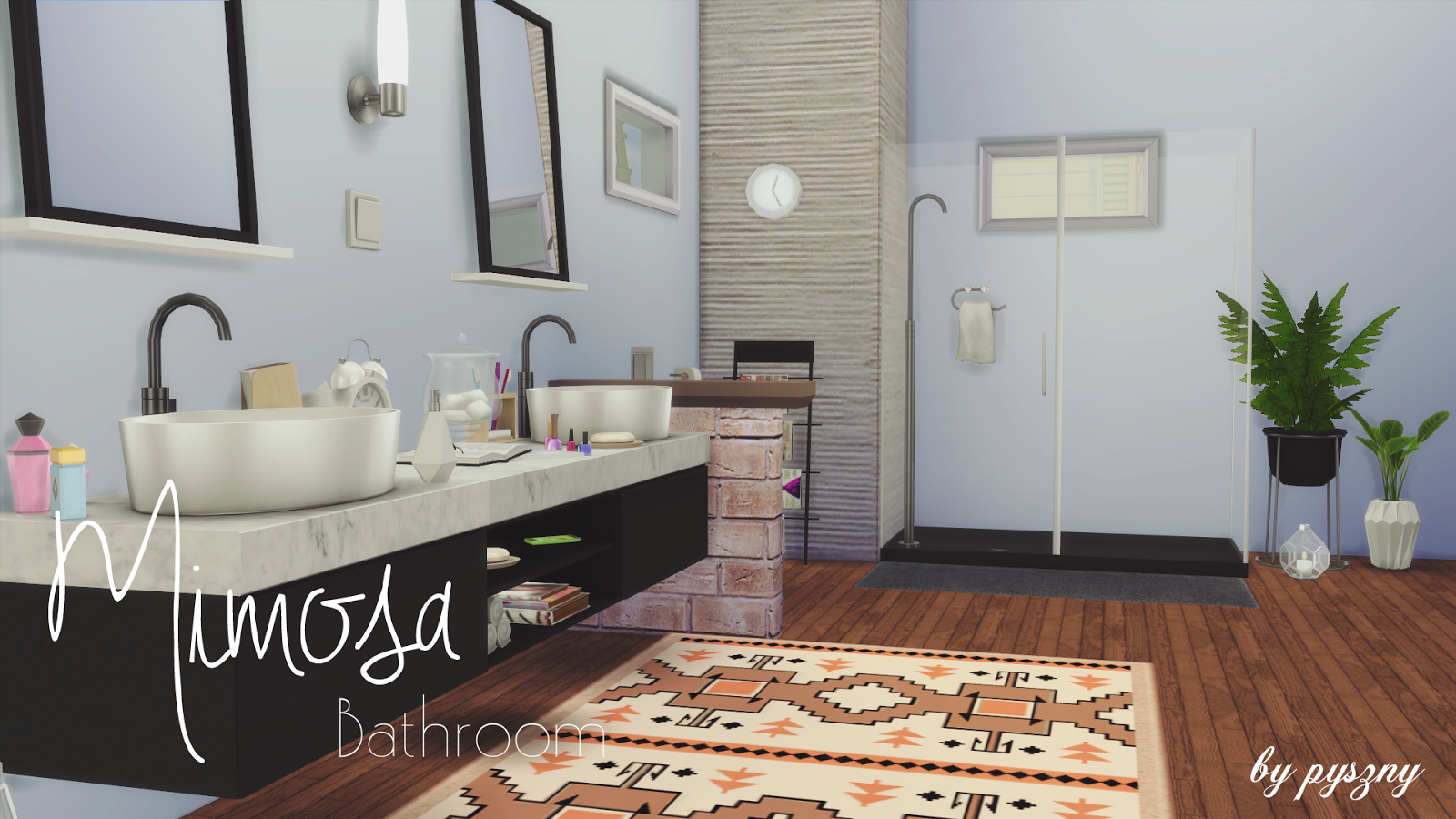 My Sims 4 Blog: Mimosa Bathroom Set By Pyszny