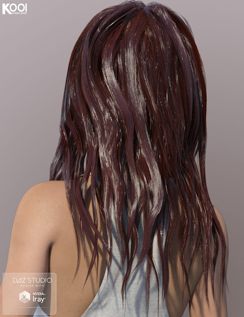Rebecca Hair for Genesis 3 Female