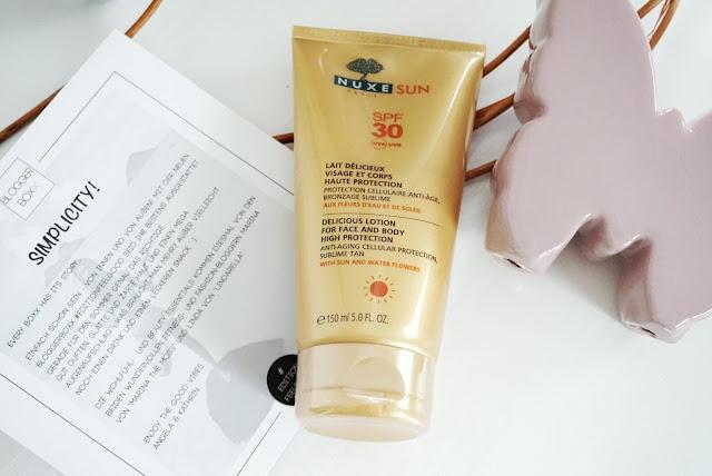 Bloggerboxx Edition Feel Good Nuxe Sun Cream