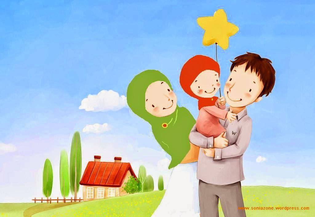 Rumah Tangga Keluarga Sakinah. Foto: kartunlucu.com.