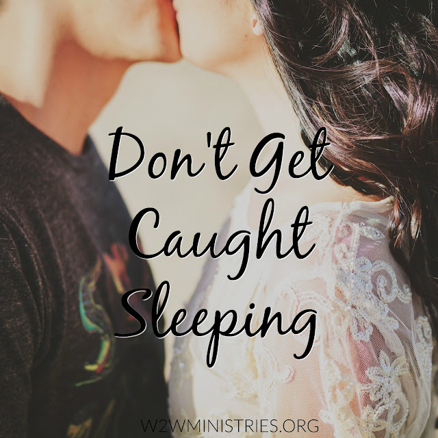 When it comes to your marriage don't get caught sleeping. #marriage #marriagemonday #dateyourmate #kisslikeyoumeanit #beintentional #wife #husband