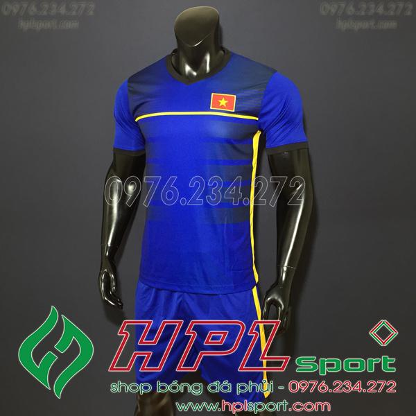 Áo bóng đá đội tuyển Việt Nam training xanh đậm 2019