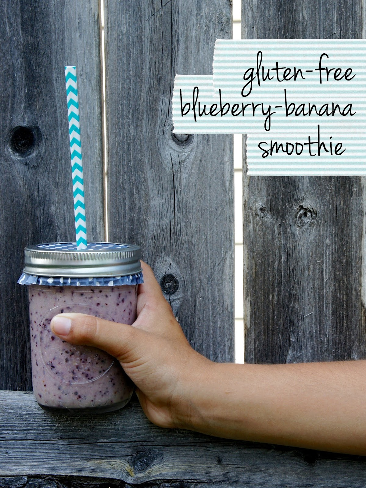 Make this Gluten-Free Blueberry Banana Breakfast Smoothie dairy free using Honey Nut Cheerios